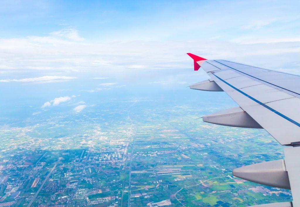 Látkép a repülőgépből